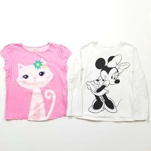 Girl's Size 4T Minnie Mouse & Cat Tops